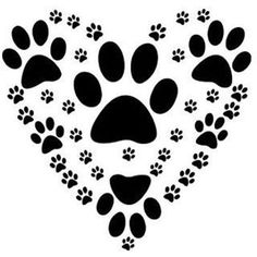 "Paw Heart 190Mm Mylar 6"", 8"", 12"" Stencil Durable & Sturdynew"