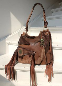 Brown leather #handbag