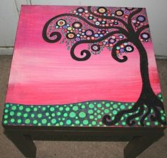 DIY Painted Coffee Table Ideas | painted table top