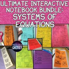 This set of systems of equations foldable notes and inserts is designed to be used throughout a multi-day unit. Includes a set of I Can Statements, vocabulary page, 4 foldable note pages, example problems, and a cheat sheet. It takes you from building background to introducing the topic to practicing and gives students a great source to refer back to. Math Teacher, Math Classroom, School Teacher, Systems Of Equations, I Can Statements, Secondary Math, Common Core Math, Teaching Tools, Teaching Math