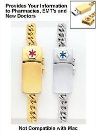 MD Alert Bracelet, Color Gold:Amazon:Health & Personal Care
