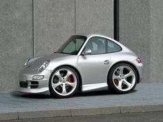 Smart Car redesigned into a Porsche
