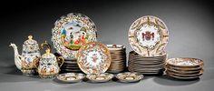 Capodimonte-Style Porcelain Circular Dishes