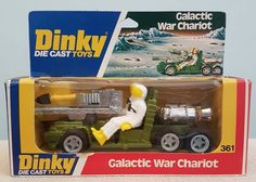 Dinky Die Cast Toys Space 1999 Galactic War Chariot. Circa 1978. True vintage diecast model. Model No 361. Original Woolworths £2.39 price ticket. In near mint boxed condition. Complete with missile.   eBay!