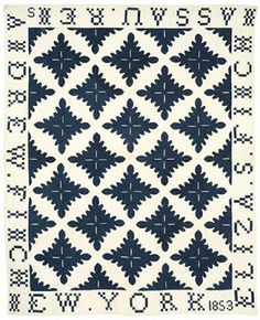 Hawaiian Quilt Pattern ULU LEAF, Oak Leaf variation dated 1853 Permanent Collection New England Quilt Museum. Quilt Size: 74 x Reads> Elisa S. Finch ~ Nassau, Rens(Rensselaer county) ~ Andrew W. Finch ~ New York ~ 1853 Old Quilts, Star Quilts, Antique Quilts, Vintage Quilts, Quilt Blocks, Hawaiian Quilt Patterns, Hawaiian Quilts, Alphabet Quilt, Two Color Quilts
