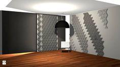 Aranżacja z wykorzystaniem płytek 3D Pyramids - zdjęcie od Bettoni - Beton Architektoniczny - Hol / Przedpokój - Styl Nowoczesny - Bettoni - Beton Architektoniczny