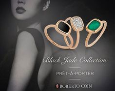 Roberto Coin - Timeless elegance, eternal glamour. The Black Jade Collection, simple and pret-à-porter. Shop now at Mulloysjewelry.com your authorized dealer - http://www.mulloysjewelry.com/designers/roberto-coin.html