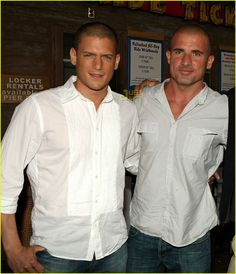 Wentworth Miller & Dominic Purcell <3