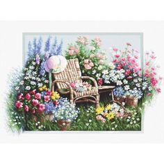 Cross Stitch Kit The blossoming garden Luca-S Point de croix Punto de cruz  DIY #LucaS