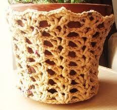 laced plarn basket