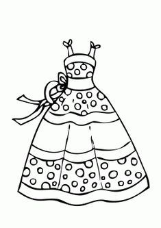 dress templates coloring pages - photo#34