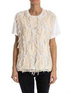 Erika Cavallini - blouse Aki with 3D floral details - ZO ET LO EASY SHOPPING WORLDWIDE EXPRESS SHIPPING