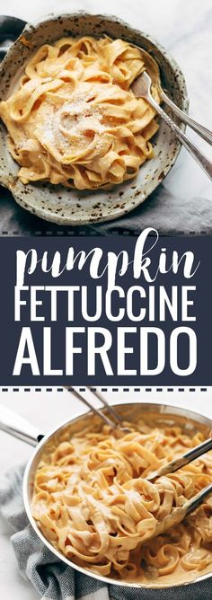 5 Ingredient Pumpkin Alfredo - creamy, luscious, and so super simple. Perfect fall comfort food! | pinchofyum.com