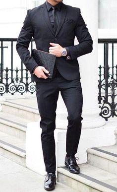 All black outfit ideas for men #blackonblack #allblack #mensfashion
