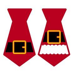 Santa Claus Tie SVG Cuttable Design