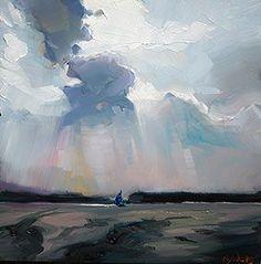 "Edward B. Gordon ""Auf dem Seddinsee"" - Original Fine Art for Sale - © Sky Painting, Seascape Paintings, Landscape Paintings, Landscape Photography, Art Photography, Paintings I Love, Abstract Landscape, Abstract Art, Art Oil"