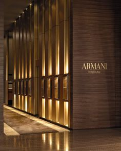 Excellent Armani Hotel Dubai Regarded As Cool Architectural Building : Beautiful Ambience Armani Hotel Interior Entrance Lighting Ideas Luxury Hotel Interior Designs Lobby Design, Design Entrée, Design Case, Wall Design, House Design, Chair Design, Design Trends, Dubai Hotel, Dubai Uae