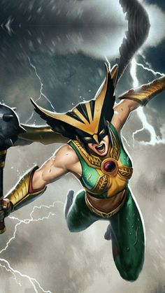 Check out this awesome pic of Hawkgirl....