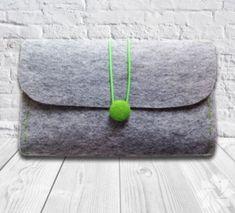 Felt Clutch Bag, Hand Bag, Grey & Green Filz Clutch Bag, Handtasche, grau & grün This image has get Felt Clutch, Felt Purse, Clutch Purse, Felt Bags, Butterfly Felt, Green Bag, Felt Crafts, Green And Grey, Grey Yellow
