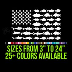American Flag Fish Custom Car Vinyl Decals, Transfer Tape, Laptop Decal, 6 Years, American Flag, Adhesive, Custom Design, Surface, How To Apply