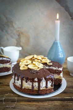 Schoko-Bananen-Torte - Jenny is baking Chocolate Raspberry Cake, Chocolate Chip Pudding Cookies, Chocolate Drip, Chocolate Shavings, Chocolate Biscuits, Chocolate Cake, Banana Chips, Cake Tasting, Cake With Cream Cheese