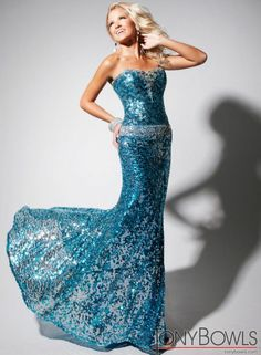 TONY BOWLS TBE11348 Beaded Evening Gown Turquoise $450 FREE WORLD DELIVERY * FREE GIFT WRAPPING * FREE RETURNS * 100% QUALITY ASSURANCE GUARANTEED..FOLLOW US ON POLYVORE! WE HAVE JUST BEEN HONORED WITH THE OFFICIAL BLACK SEAL ALONG WITH GUCCI & OTHER GREAT COMPANIES! SAVE $50.00 ON THIS GOWN UNTIL DEC 21st!