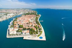 Zadar óvárosa a levegőből