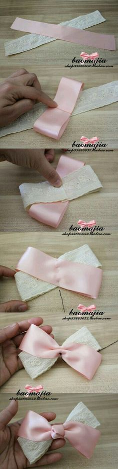 66 Ideas For Diy Baby Headbands Ribbon Hair Bow Tutorial Diy Hair Bows, Diy Bow, Ribbon Hair, Ribbon Bows, Ribbons, Diy Ribbon, Fabric Hair Bows, Ribbon Flower, Diy Headband