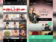 M&S – Before & after Material Design