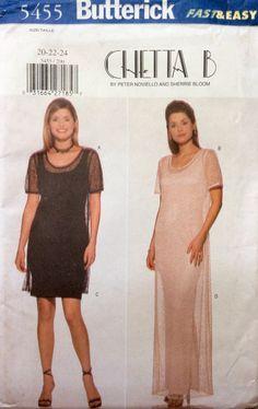 Butterick 5455 UNCUT Misses Dress & Underdress by Lonestarblondie