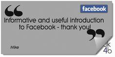 #uk4b Using Facebook for Business testimonial Using Facebook For Business, Social Media Training, Email Marketing