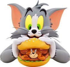 Sideshow and Soap Studio present the Tom and Jerry Burger Bust. The classic cartoon Tom and Jerry was created by famous animators, William Hanna and Joseph Tom And Jerry Kids, Tom And Jerry Pictures, Tom And Jerry Cartoon, Classic Cartoon Characters, Favorite Cartoon Character, Classic Cartoons, Fred Flintstone, Batman Beyond, Cute Disney Wallpaper