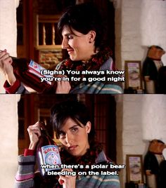 Fran from Black Books.