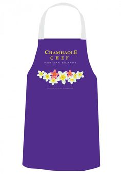 Gerard Aflague Collection Online - Chef's Apron - Chamhaole Design - Deep Purple - Mariana Islands, $21.99 (http://www.gerardaflaguecollection.com/chefs-apron-chamhaole-design-deep-purple-mariana-islands/)