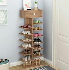 Double Shoe Racks scarpiera organizer Wooden Home Furniture estanteria para zapatos For Living room Shoe Cabinet With Cabinet Shoe Rack Furniture, Wood Shoe Rack, Diy Shoe Rack, Home Furniture, Rack Design, Storage Design, Types Of Shoe Racks, Shoe Rack Models, Diy Shoe Storage