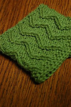 Lewis Knits: Zig Zag Cup Cozy Pattern