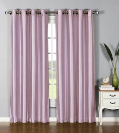 Window Elements Jane Faux Silk Grommet Extra Wide 54 x 84 in. Curtain Panel, Lilac ** Be sure to check out this awesome product. (This is an affiliate link) #WindowTreatments