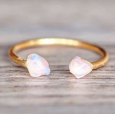 RESTOCKED Gold Little Raw Opal Ring ❤️ Available in our 'Mermaid' Collection www.indieandharper.com