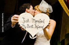 Just married my best friend! Better sign then Just Married Wedding Events, Our Wedding, Dream Wedding, Wedding Stuff, Wedding Things, Wedding Bells, Wedding Wishes, Wedding Dreams, Rustic Wedding