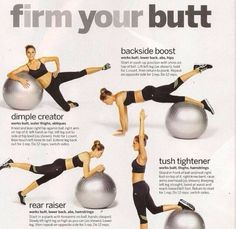 Butt workout.