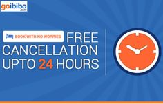 Book With No Worries - Introduced Free Cancellations on Hotels. Yes, this offer is brought to you solely by Goibibo. Pay nothing while cancelling your booking https://www.goibibo.com/hotels-mktg/ZeroCancellation/