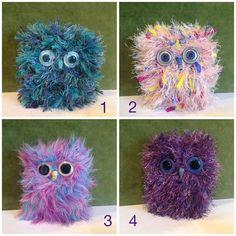 Handmade Large Fluffy Owl