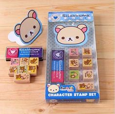 Character Stamp Setswith ink pads  Korean Rubber Stamp  door mieryaw, $5.20