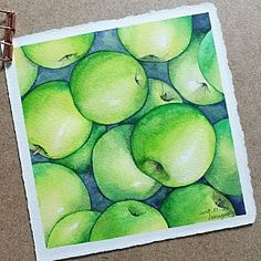 Soft Pastel Art, Art Studies, Light And Shadow, Art Tutorials, Art Lessons, Watercolor Art, Fruit, Drawings, Pear