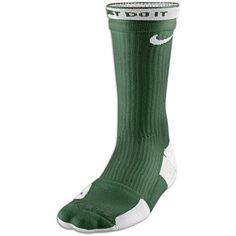 Nike Elite 2 Layer Basketball Crew Sock - Mens - Gorge Green/White