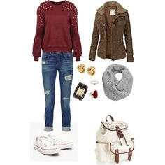 Comfortable fall outfit.