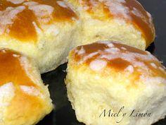 Miel y Limón Recetas: BRIOCHE PORTUGUÉS Receta Pan Brioche, Donuts, Bread Bun, Doughnut, Bread Recipes, Sandwiches, Cheesecake, Brunch, Chocolate