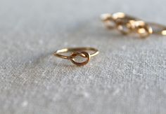 Tie the knot ring//14kt. Gold Filled by BruteBeauti on Etsy, $17.00