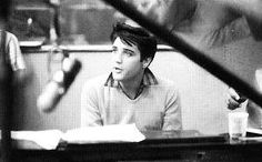 Elvis at the King creole recording session in january 1958.