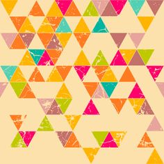 Removable Wallpaper - Confectioner's Triangles